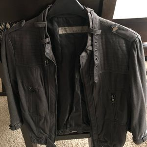 Zara grey biker XS vintage look - brand new & cute
